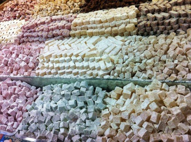 Рахат-лукум базар, пахлава, рахат-лукум, сладости, турция