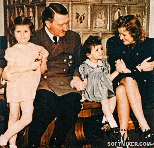 Hitler-with-Eva-Braun-children@