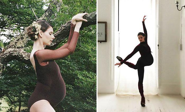 Знаменитая балерина продолжает танцевать, даже будучи на девятом месяце беременности