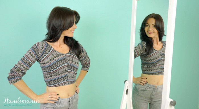 Весенний гардероб: как сделать модный укороченный топ за одну минуту