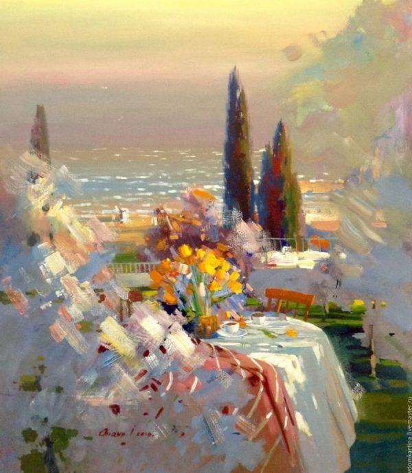 Счастливые пейзажи, полные цветов и солнца — картины Ильи Чируна