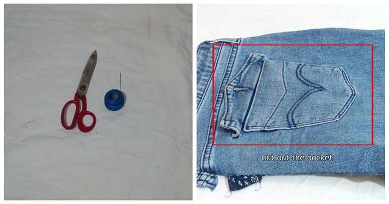 Из старых джинсов можно сшить очень практичную и милую вещицу
