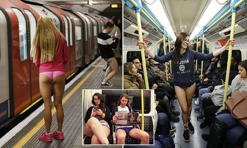 В метро – без штанов! По миру прокатился праздник эксгибиционизма