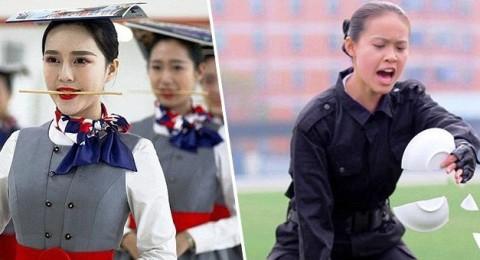 Не каждый спецназовец пройдет подготовку китайской стюардессы!