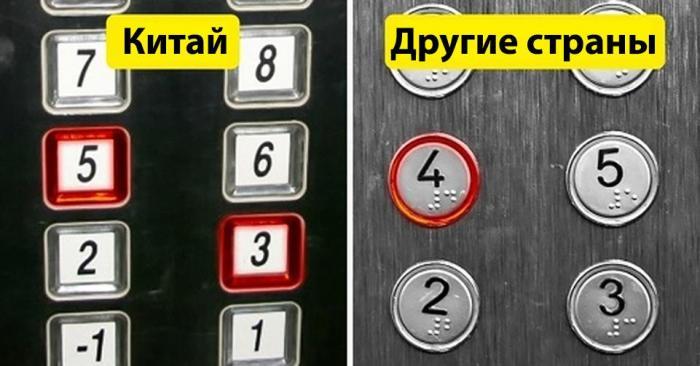 Отсутствие числа 4 в лифтах