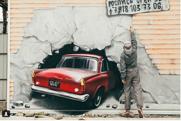 Бриллиантовый Москвич пробил стену в Сочи