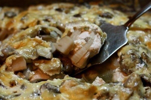 Куриная грудка с грибами, запеченная с «Активией». Удивлены? Это очень вкусно!