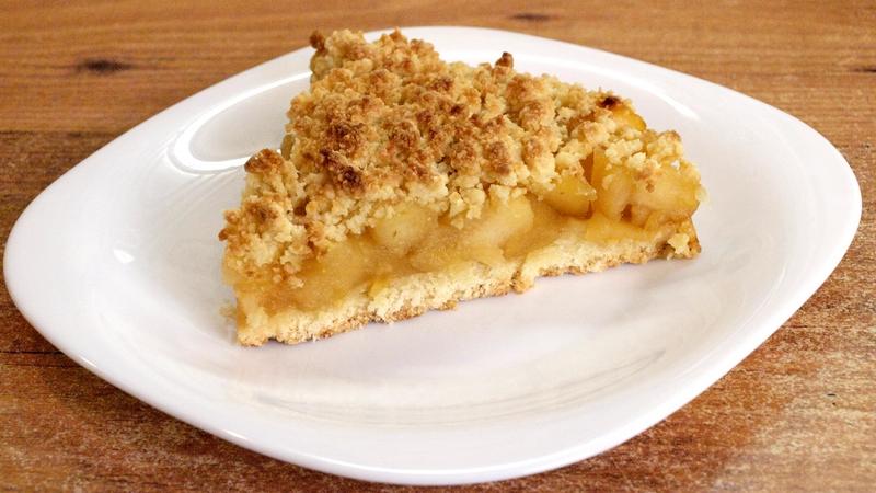 Тёртый пирог с яблоками - видео рецепт