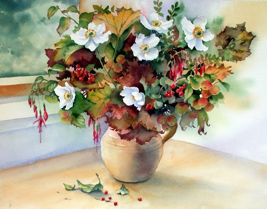 Танец цветов на акварелях Энн Мортимер