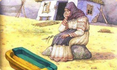 Бабка-Украина у разбитого корыта.