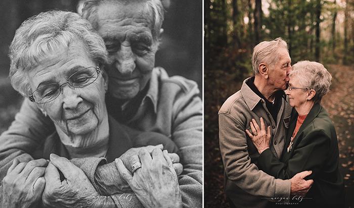 Трогательные фотографии пары, которая жената вот уже 68 лет
