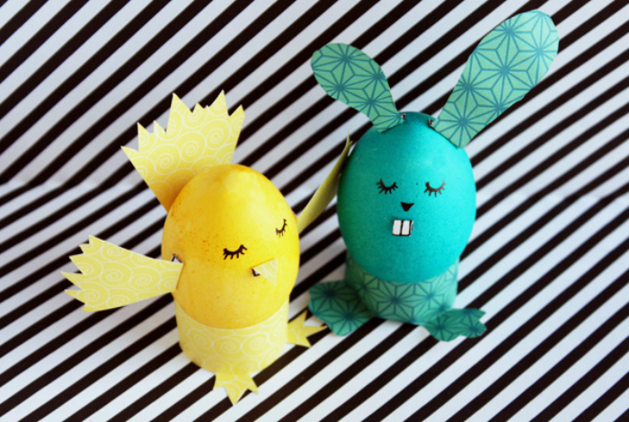 Яйца в виде зверей и птиц.