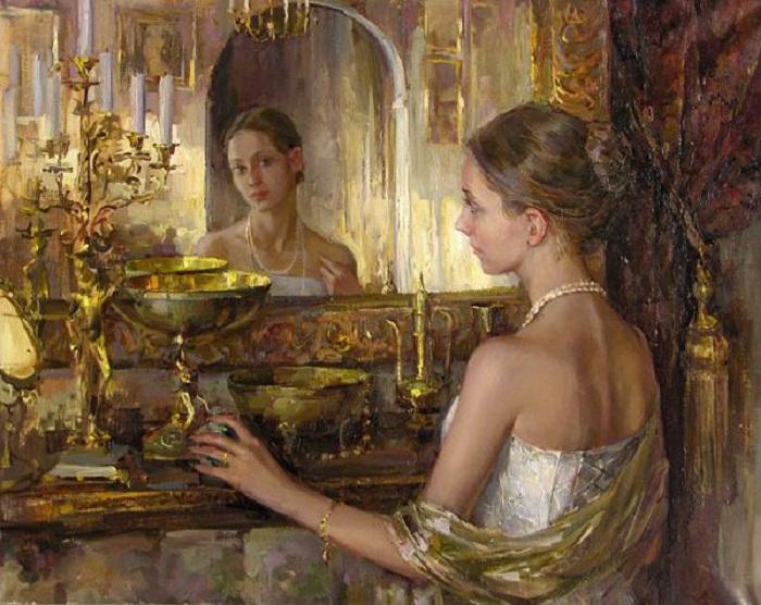 Зеркало и женщина - две тайны и неисчерпаемая тема в мировой живописи