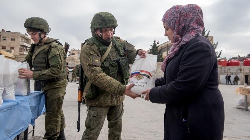 Сирия: российские военные доставили гумпомощь в Алеппо, Дамаск и Латакию