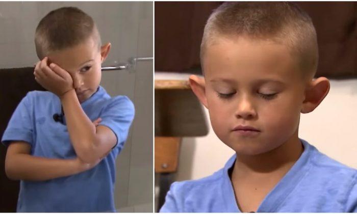 Над 6-летним мальчиком издевались из-за его торчащих ушей.