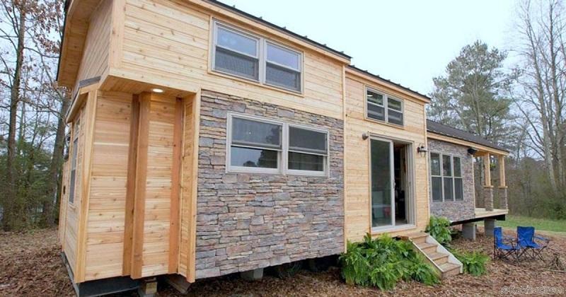 Этот крошечный домик имеет площадь всего 37м², но заглянув внутрь вы будете поражены его интерьером