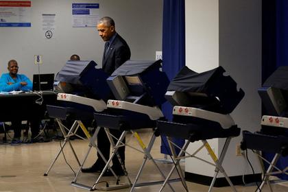 Обама досрочно проголосовал …