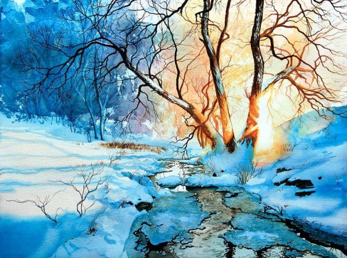 Нежные и яркие акварельные пейзажи Ханны Якобсен (Hanna Jakobsen)