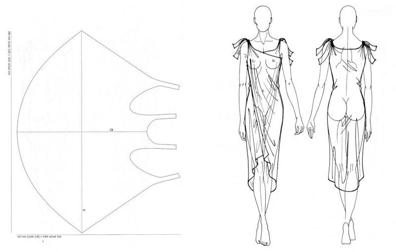 Выкройки или эскизы одежды