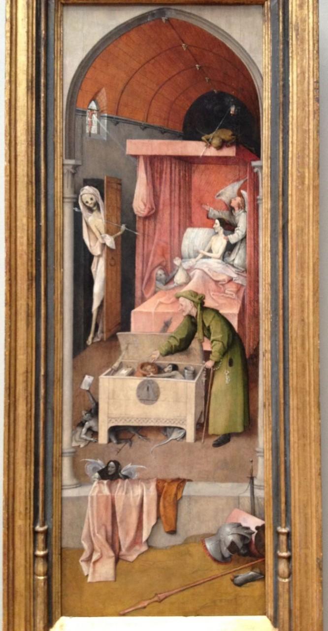 «Смерть скупца» картина - Иероним Босх Картина, Босх, Чувак и смерть, Длиннопост, Из сети, Честно украдено