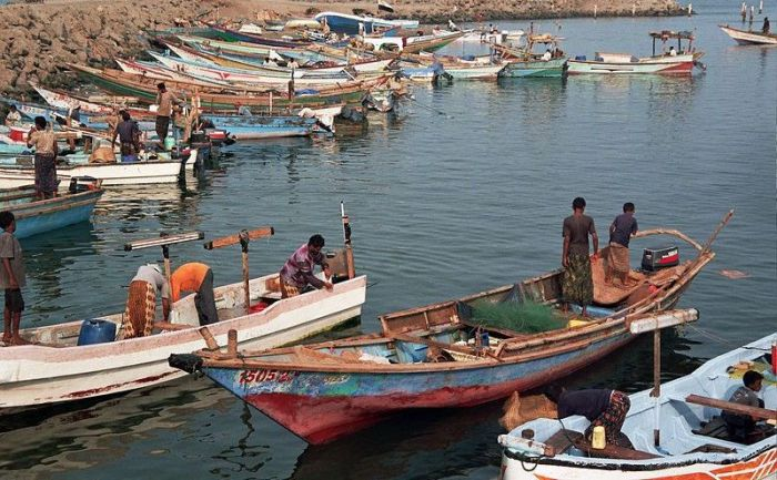 Рыбный рынок в Ходейда.