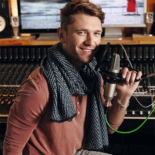 Мужской шарф с зигзагообразным узором