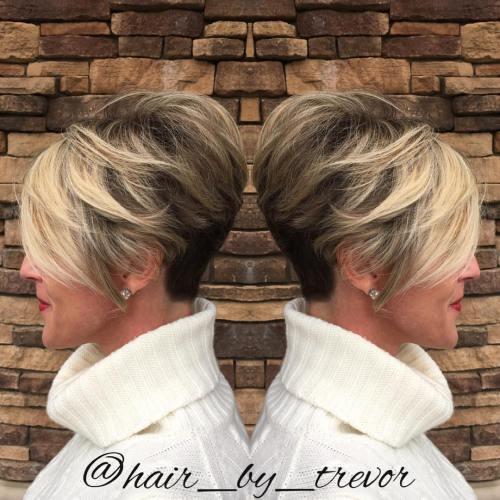 Классные и простые короткие стрижки для женщин старше 50 лет: больше 60 стильных вариантов