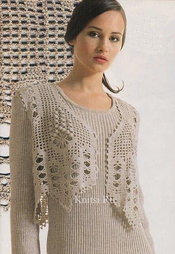 Receitas de Crochet: Colete:
