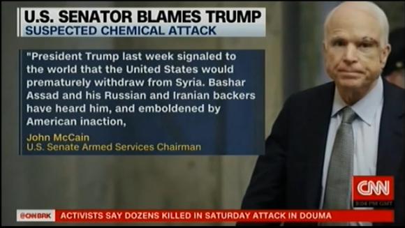 Маккейн возложил ответственность за химическую атаку в Сирии на Трампа
