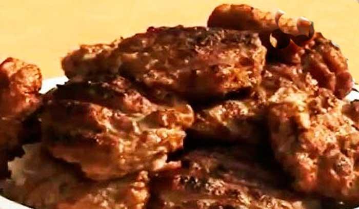 Свиное филе в перечном соусе на сковороде-гриль