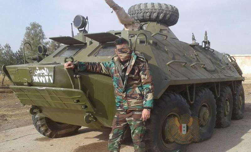 Сирийская армия начала восстанавливать БТР-60ПБ