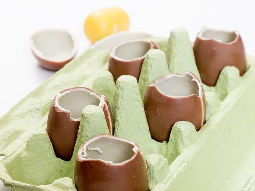 Сырный крем в шоколадных скорлупках