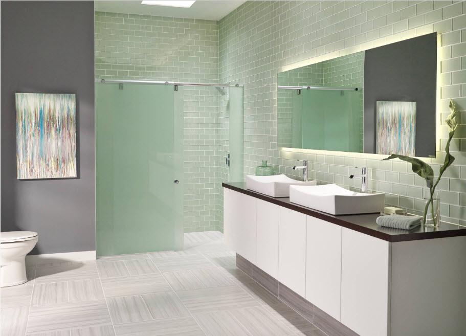 Шторки для просторной ванной