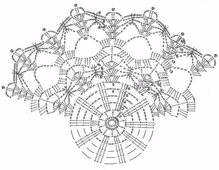Салфетки крючком вязание схемой 43