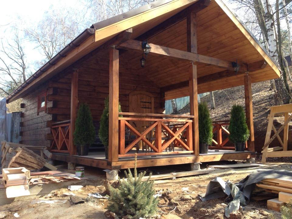 Как построить баню и беседку под одной крышей