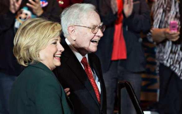 Баффет поддерживал Клинтон, нонаТрампе заработал больше всех