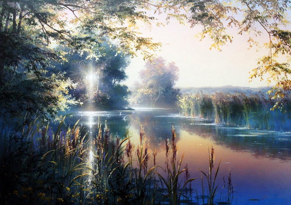 Любовь к родной природе — завораживающие  пейзажи Виктора Юшкевича