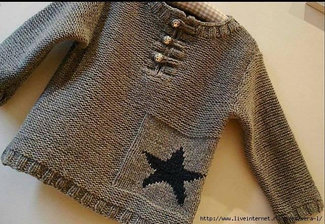 ПЕТЕЛЬКА К ПЕТЕЛЬКЕ. Пуловер для мальчика
