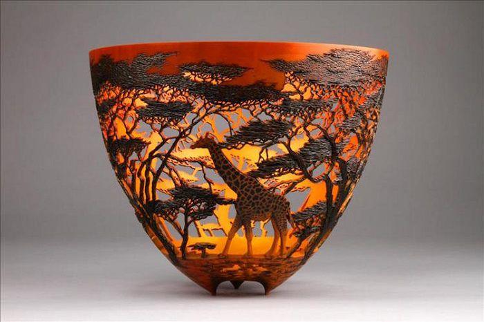 Потрясающие кружевные вазы