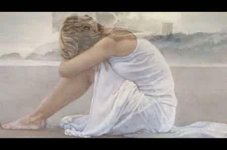 акварелью женщину рисую