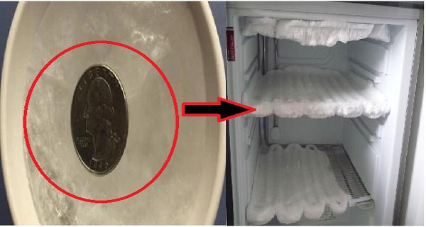 Почему Вы должны всегда оставить монетку в морозильнике перед выходом из дома?!