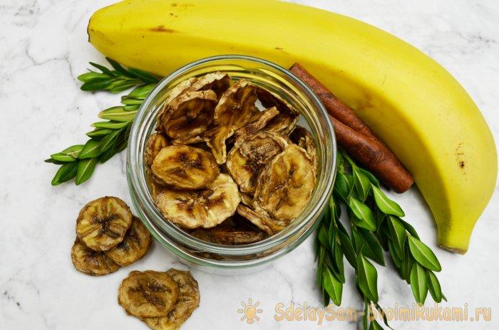 Сушеные бананы - полезное лакомство