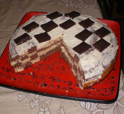 """Торт"""" Шахматная доска"""""""