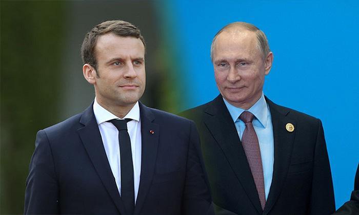 Макрон рассказал о своем отношении к России накануне визита Путина во Францию