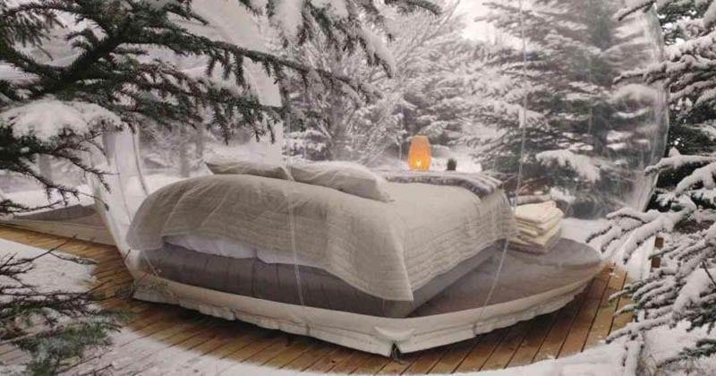 Креативный отель предлагает туристам отдохнуть в прозрачном пузыре и насладиться северным сиянием