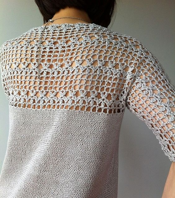 Ravelry: Julia - floral lace tunic (crochet+knit) by Vicky Chan: