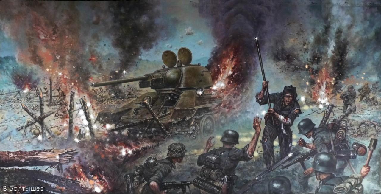 Вот это наши люди! С ломом на врага. Немцы опешили от такой наглости и геройства