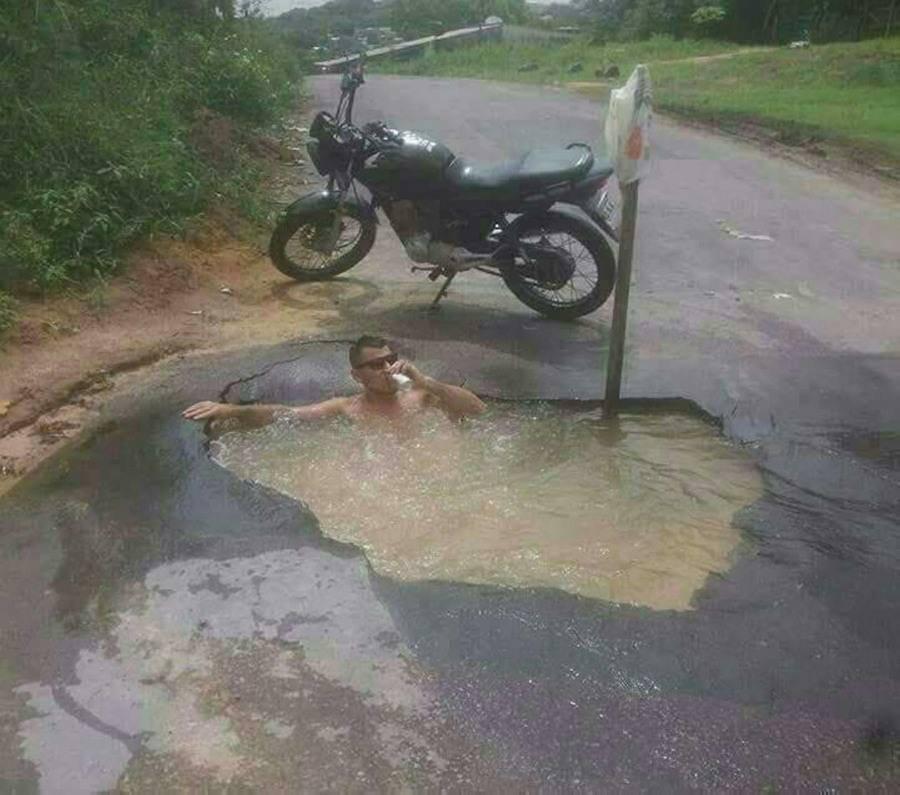 В России даже на дороге, можно найти местечко для отдыха