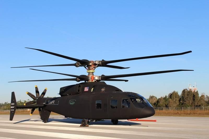В США показали прототип нового скоростного вертолета SB 1 Defiant