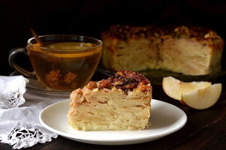 «Невидимый» яблочный пирог